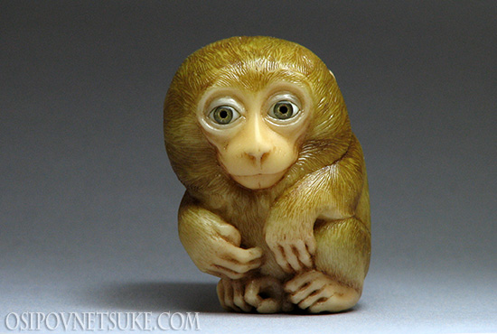 It's Cold. The Monkey netsuke.