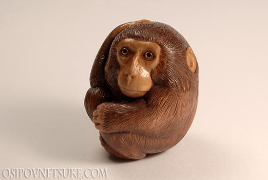 The Thinking Monkey netsuke