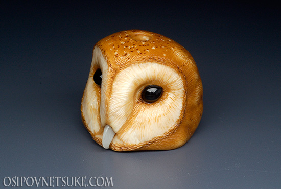 Barn Owl Ojime