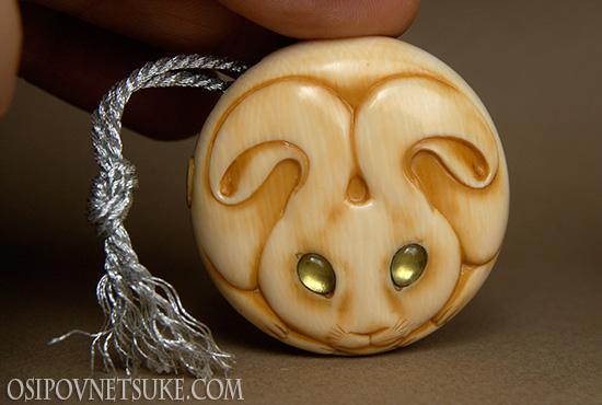 Moon Rabbit Netsuke