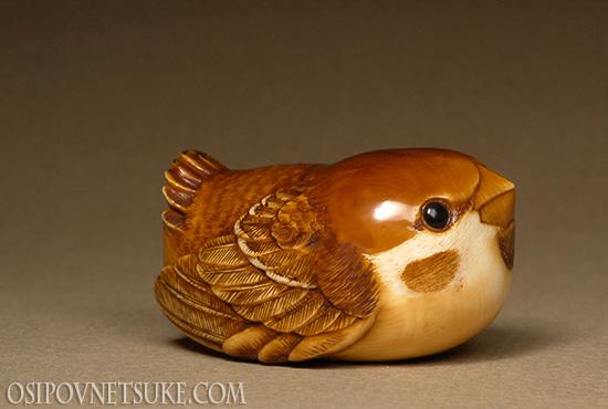 Sparrow Netsuke