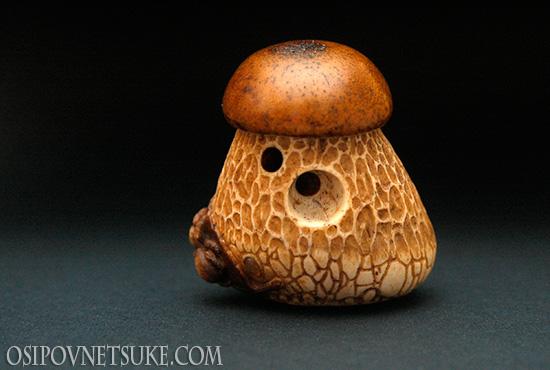 Mushroom Netsuke