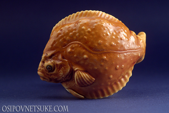 Flounder & Kappa Skull Netsuke