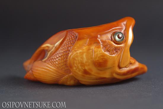 Salmon Head Netsuke