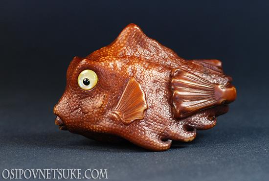 The Turretfish Netsuke