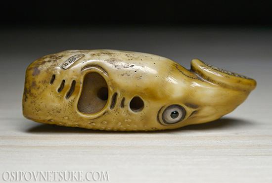 The Yatsumeunagi (Lamprey Fish) Head Netsuke