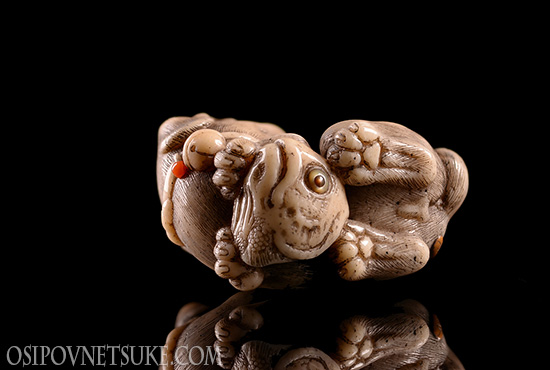 The Dog (Zodiac Set) Netsuke