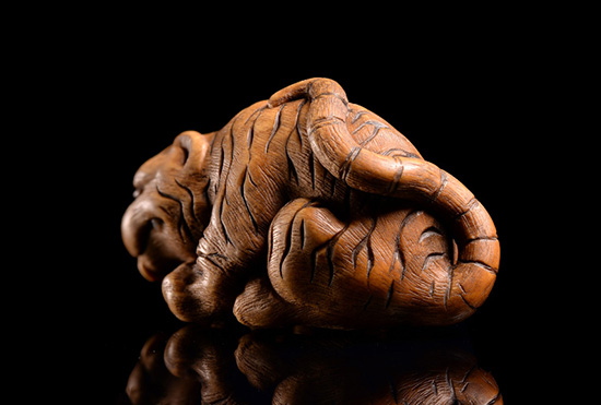 Drinking Tiger Netsuke