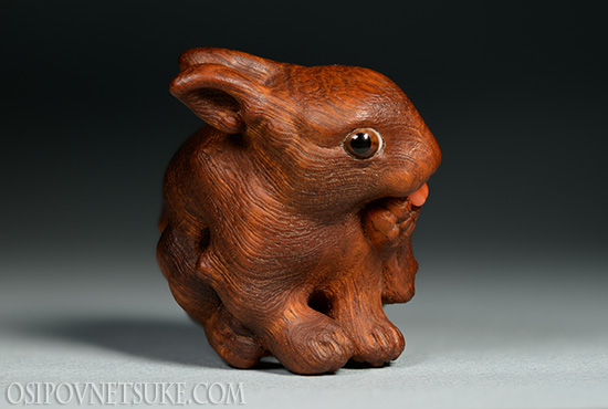 The Lick-lick Rabbit Netsuke