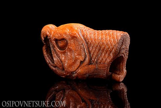 Dried Salmon Head Netsuke